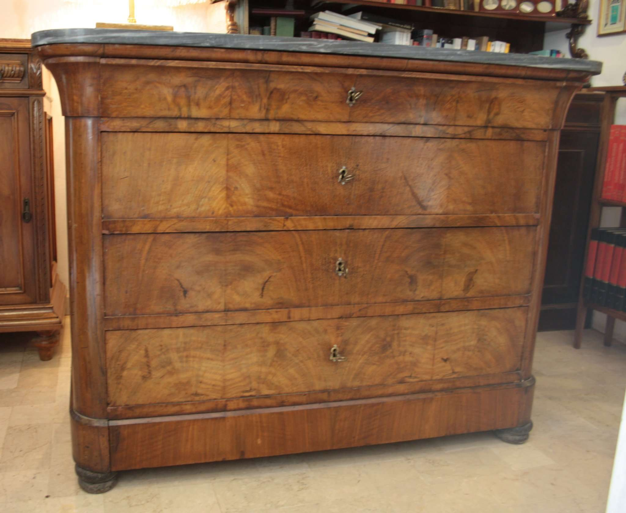 Walnut dresser chest drawers Charles X