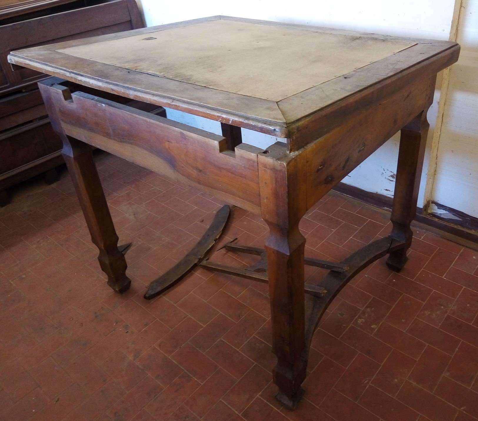 Restyling tavolo noce ricostruzione piano fasce prolunghe castagno Sant'Arsenio Salerno